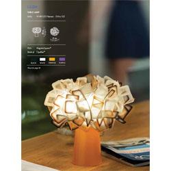 Clizia-black-white-orange-purple-table-lamp  arredamento Foligno